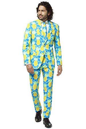 OppoSuits Crazy Prom Suits for Men - Shineapple - Wordt geleverd met jas, broek en stropdas in grappige designs kostuum d39heren