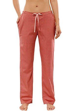 Schiesser Lange damesbroek, geweven satijnen pyjamabroek.
