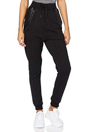 Urban classics Herenbroek Side Zip Leather Pocket Sweatpant