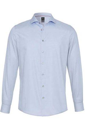 Pure Heren 3380-498 City Black lange mouwen klassiek overhemd, effen lichtblauw, S