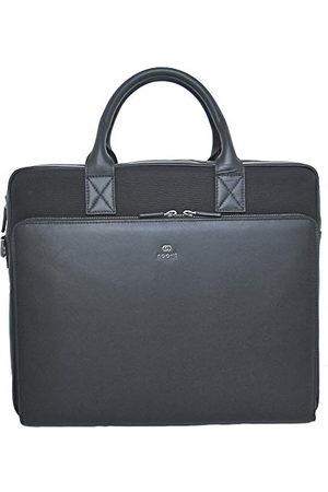 Noomi Mayfair Bag professionele tas van echt leer en linnen, 44 cm