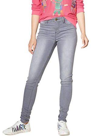 Desigual Dames denim lange broek Sky Woman Grey Skinny Jeans