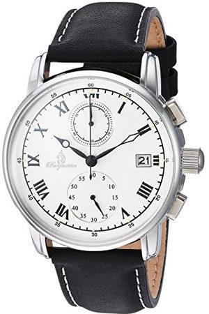 Burgmeister Heren chronograaf kwarts horloge met lederen armband BM334-182