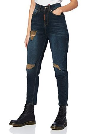 Gianni Kavanagh Donkerblauwe Core Mom Fit jeans voor dames - - XX-Small