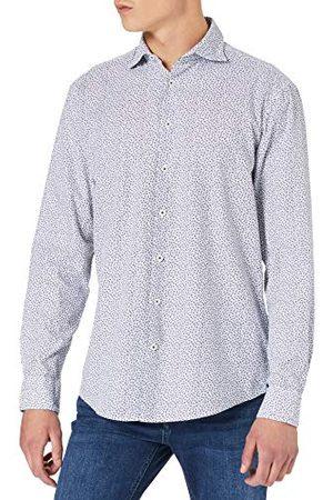 Seidensticker Heren Regular Fit lange mouwen katoen hemd, donkerblauw (donkerblauw 19), XL