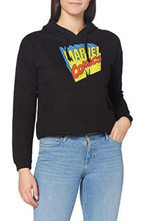 Marvel Dames Retro 3D Cropped Hoodie Hooded Sweatshirt, , Large