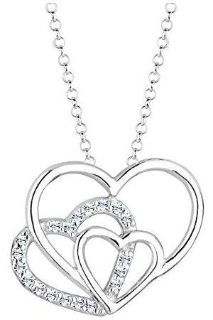 Elli Dames halsketting hart 925 sterling zilver Swarovski kristallen 45 cm 0106592713_45