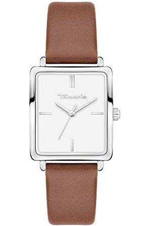 Tamaris Dames Horloges - Dames analoog kwarts horloge met lederen armband TT-0015-LQ