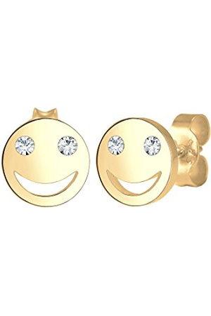 Elli Oorbellen Smiley icon emoji kristal 925 zilver