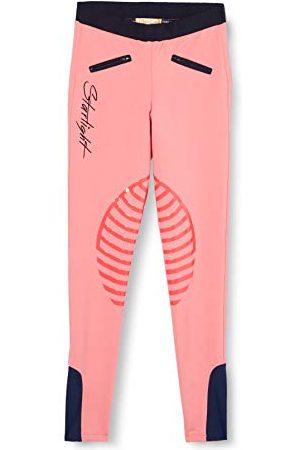 Hkm Meisjes Leggings - Starlight, 9228, paardrijlegging met siliconen kniestukken, voor meisjes, /donkerblauw, maat 146/152