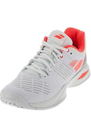 adidas Dames Propulse Team All Court Tennis Schoenen, (Weiß/Neonrot Weiß/Neonrot), 6 UK