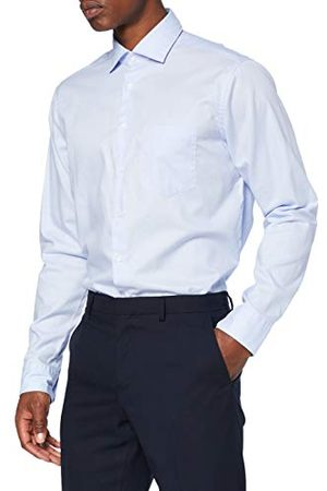Seidensticker Heren Lange mouw - Heren Regular lange mouwen Uni Twill Klassiek overhemd