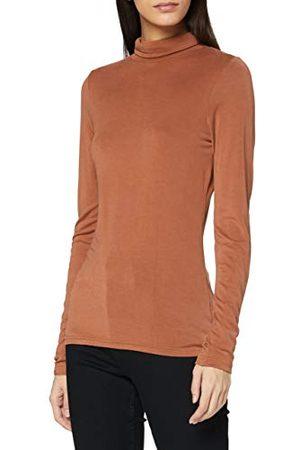 SPARKZ COPENHAGEN Dames Sella Rollneck T-Shirt, Kastanje, S