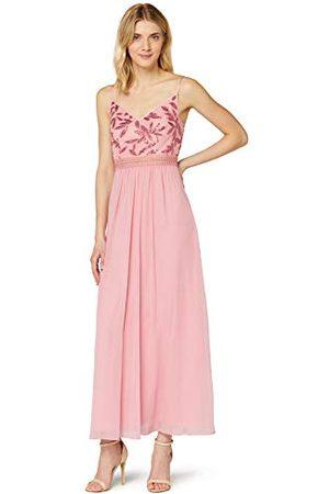 TRUTH & FABLE Amazon-merk - Maxi Chiffon jurk voor dames, (blozen blad pailletten/kraal), 20, label:3XL