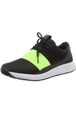 Under Armour Dames Tops - Breathe Lace NM2, Women's Low-Top Sneakers Low-Top Sneakers, Black (Black/Jet Gray/Lime Light (001) 001), 7.5 UK (42 EU)