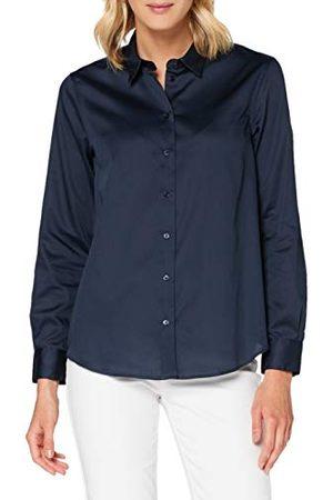 Seidensticker Dames Blouses - Damesblouse – modieuze blouse – gemakkelijk te strijken hemdblouse met hemdblousekraag – regular fit – lange mouwen – 100% katoen