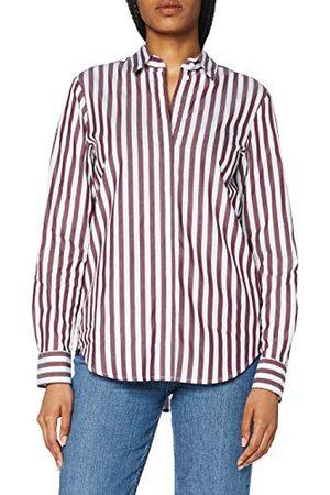 Seidensticker Damesblouse – modieuze blouse – gemakkelijk te strijken hemdblouse met hemdblousekraag – regular fit – lange mouwen – 100% katoen