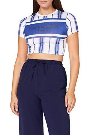 Gianni Kavanagh Dames Shirts - Blue Mykonos Cropped Tee T-shirt voor dames