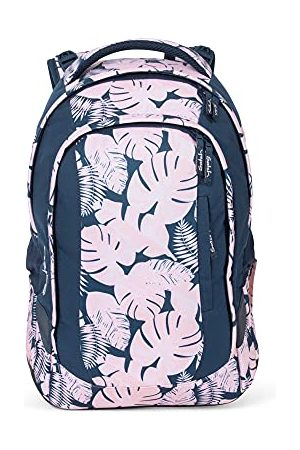 Satch Rugzakken - Sleek Botanic Blush, ergonomische schoolrugzak, 24 liter, extra slank