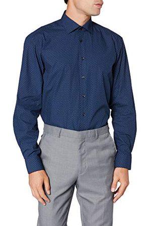 Seidensticker Heren Lange mouw - Zijdesticker heren comfort lange mouwen print klassiek overhemd