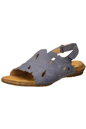 El Naturalista N5068 Pleasant Jeans/Wakataua, sandalen met open punt voor dames