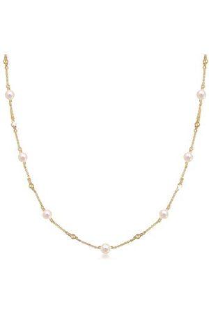 Elli Dames halsketting kogel zoetwaterparel 925 sterling zilver 0101751518_40 - 40 cm lengte