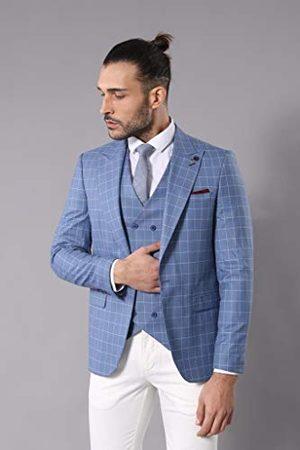 Wessi Slank pasvorm voor heren, dubbelrijig geruit pak - jurkset