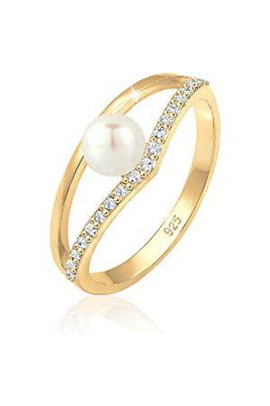 Elli Ringen Süßwasserzuchtperle Kristalle Silber