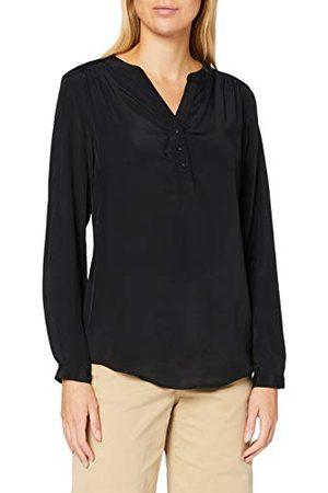 Seidensticker Damesblouse - modieuze blouse - tuniekblouse - V-hals - regular fit - lange mouwen