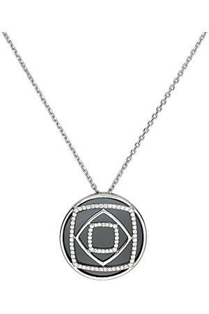 Ceranity 1-52/0022-N geometrisch dameshangertje sterling zilver 925/1000 6.59 g keramiek zirkonia zwart/wit, 45 cm