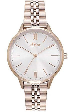 s.Oliver SO-4213-MQ Dames analoog kwarts horloge met roestvrij stalen armband