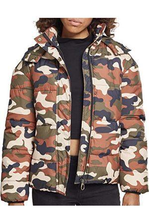 Urban classics Donsjack voor dames, camouflage, winterjas, boyfriend camo bufferjack