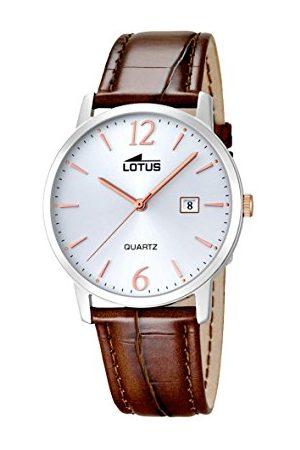 Lotus Analoog kwartshorloge voor heren, met echt lederen armband 18239/4