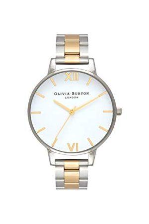 Olivia Burton Vrouwen analoog Japans Quartz horloge met roestvrij stalen band OB16BL45