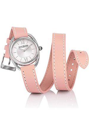Saint Honore Saint-Honoré kwartshorloge voor dames saffierglas lederen armband roze polshorloge Made in France 7215261AIN-PIN