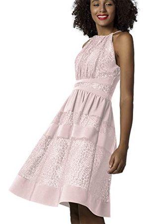 Apart Apart kanten jurk met ondoorzichtige strepen en naaktkleurige voering jurk voor speciale gelegenheden.
