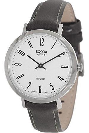 Boccia Dames analoog kwarts horloge met lederen armband 3246-03