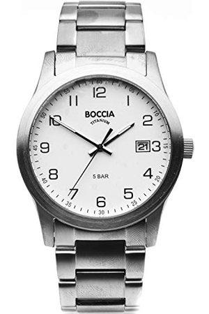 Boccia Heren Armbanden - 3619-01 Analoog kwartshorloge voor heren, met titanium armband