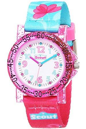 Scout Horloges meisjes analoog kwarts horloge met textielband armband 1