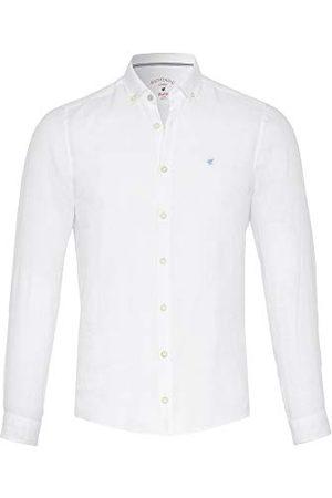 Pure Heren Lange mouw - Heren 3801-550 Casual Slim Fit Shirt met lange mouwen, effen lichtblauw, S