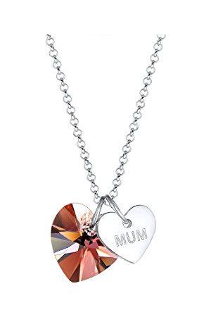Elli Damesketting met hanger, 925 sterling , kristal, 0101331518_45, lengte 45 cm