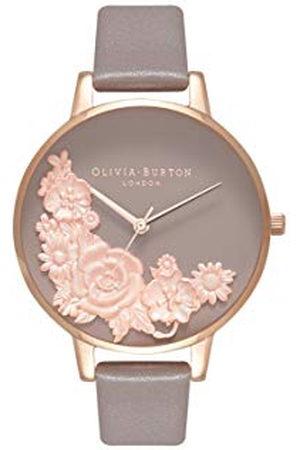 Olivia Burton Dames Horloges - Dames analoog kwarts horloge met lederen armband OB16FS99