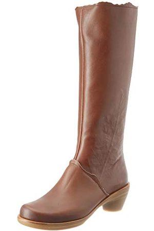 El Naturalista Dames Hoge laarzen - N5356 IRIS BROWN/AQUA, Hoge laarzen voor dames 36.5 EU