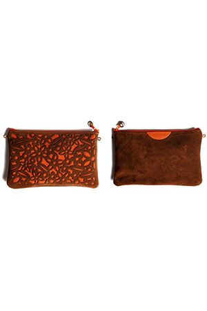 Dallaiti Design Dames Clutches - Schminktas, van leer, voor dames, 14 x 1 x 21,5 cm (B x H x L)