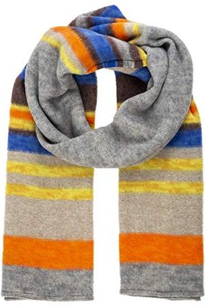 Apart Dames Sjaals - Dames sjaal Knitted Colored Stripe Shawl Multi-colored Grey), One Size (Manufacturer Maat: 0)