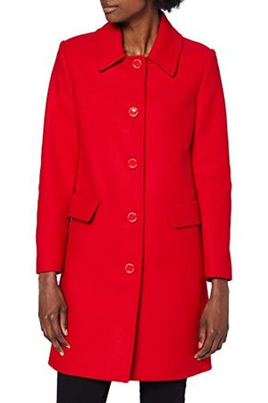Moschino Dames Wollen jassen - Love Dames Heart and Logo Studs in The Back Wool Coat