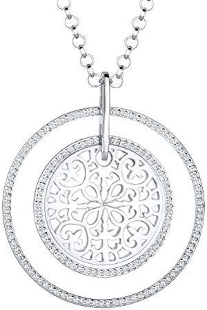 Elli Dames Kettingen - Damen 925 Brillantschliff kristal