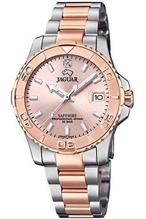 Jaguar Heren Horloges - Polshorloge model J871/4 uit de collectie Woman, behuizing 34 mm, roze met stalen bronsarmband voor dames