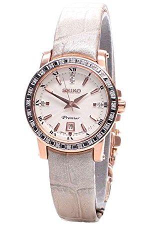 Seiko Dames Horloges - Dames analoog kwarts horloge met lederen armband SXDG60P1