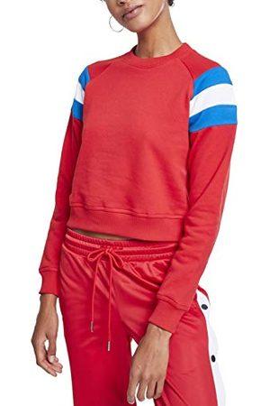 Urban classics Dames Sweaters - Sweatshirt voor dames met lange mouwen en ronde hals.